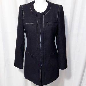 Karl Lagerfeld Black Paris Tweed Topper jacket 6
